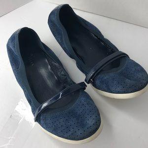 Cole Haan Ballet Flat suede size 9 Color Blue